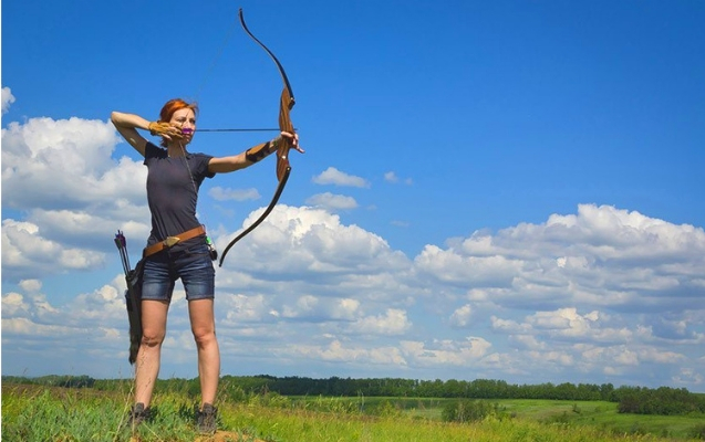 Recurve bow shooting