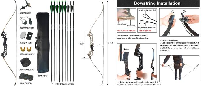 D&Q Aluminum archery recurve bow
