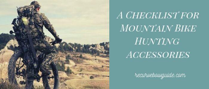 Mountain Bike Hunting Accessories